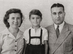 My parents and brother in Beirut just before leaving for the US, 1947.