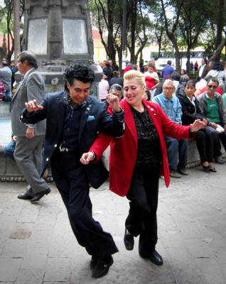Sunday afternoon public salsa dancing