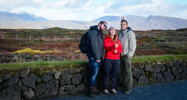 Selfie trio, þingvellir, Iceland (2015)